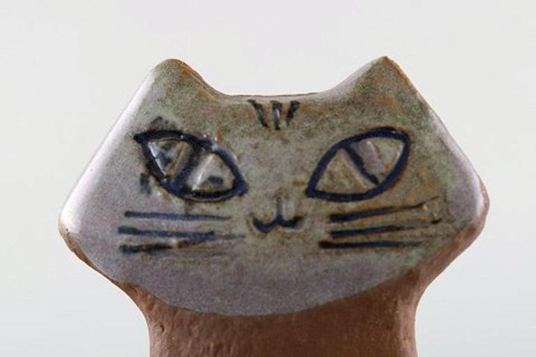 Swedish Lisa Larson for Gustavsberg, Stoneware Figure of Sitting Cat For Sale