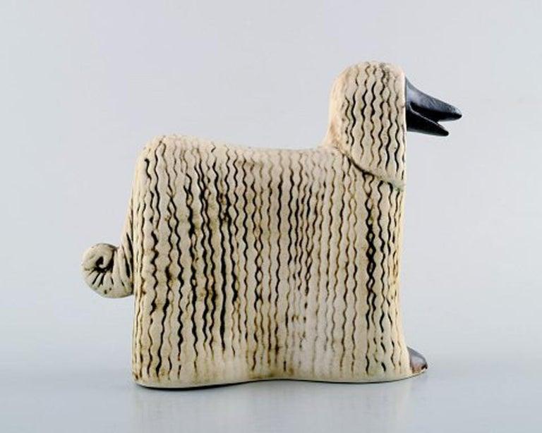 Scandinavian Modern Lisa Larson Ceramic Figure of Afghan Dogs/Afghan Hound For Sale