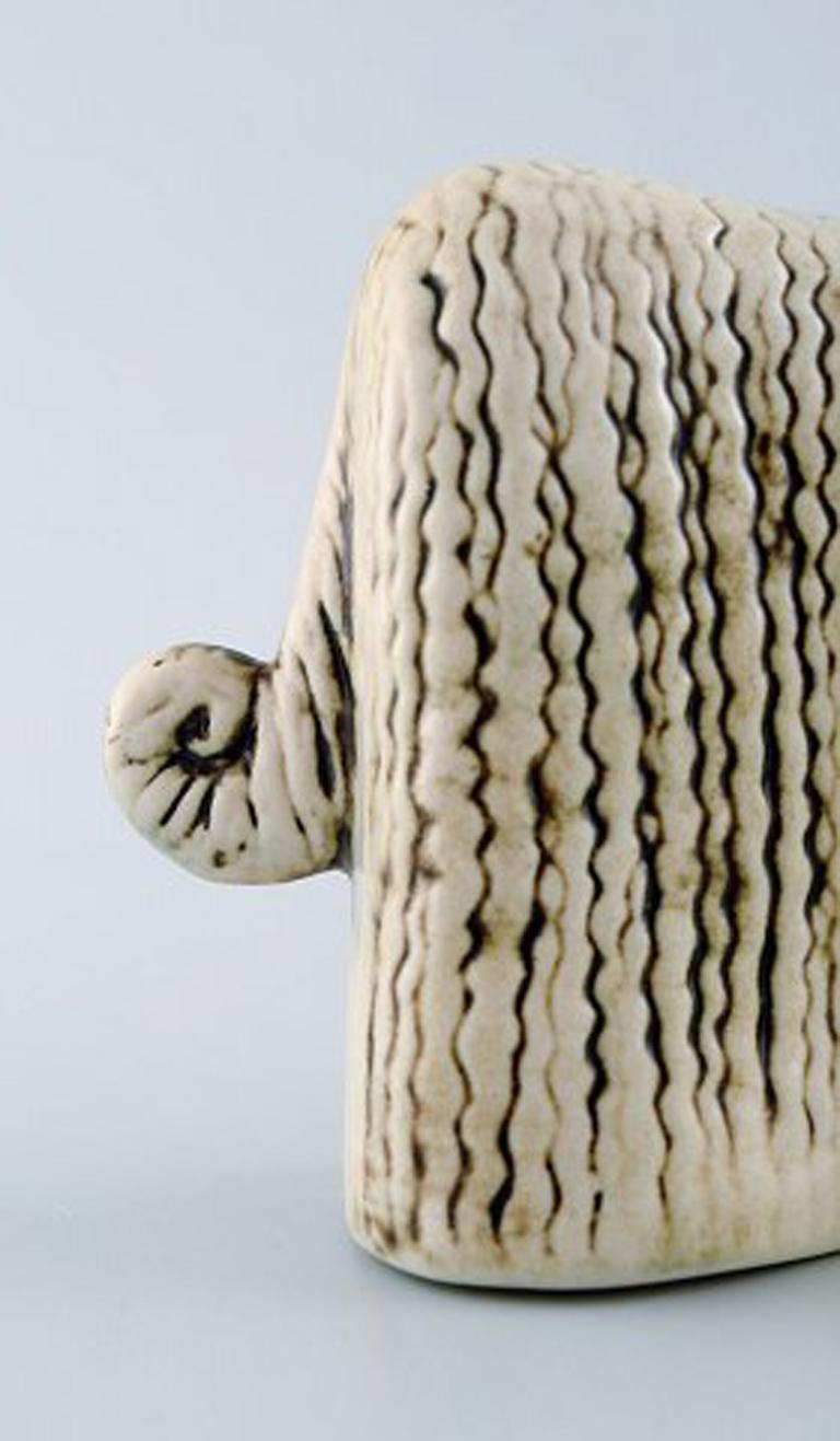 Swedish Lisa Larson Ceramic Figure of Afghan Dogs/Afghan Hound For Sale