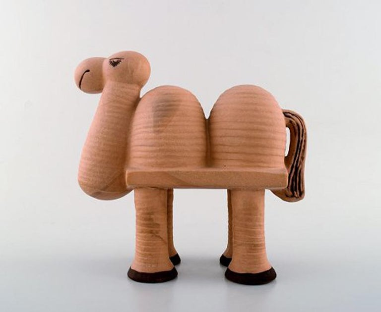 Scandinavian Modern Lisa Larson Gustavsberg Camel in Ceramics, from the Series