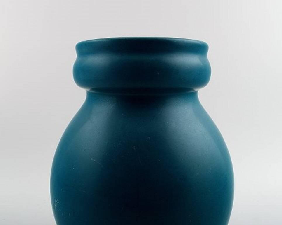 Rare aluminia royal copenhagen denmark faience vase for Faience turquoise