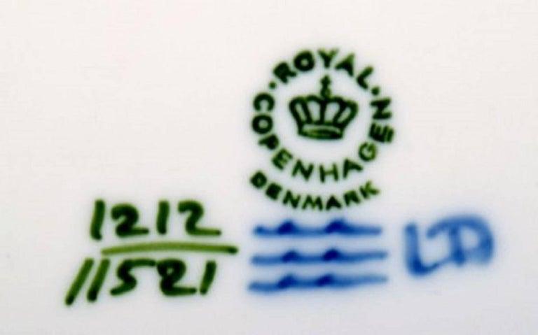 Danish 14 Plates, Royal Copenhagen Blue Fan, Flat Plates For Sale