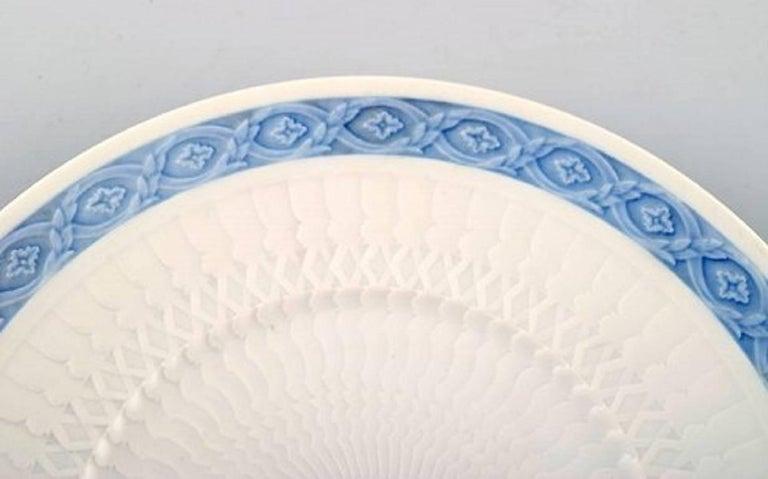 Art Nouveau 14 Plates, Royal Copenhagen Blue Fan, Flat Plates For Sale