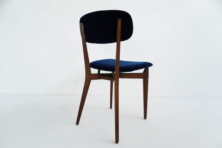 Italian Ico Parisi, Cassina, Italy, 1955 Rare Set of Eight Chairs Mod. 691 For Sale