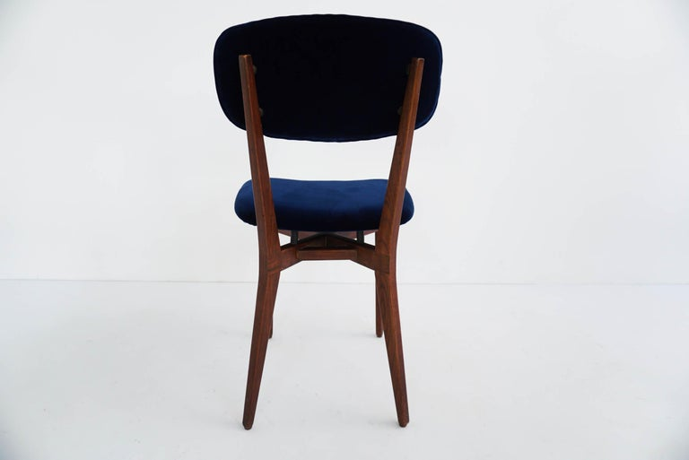 Mid-20th Century Ico Parisi, Cassina, Italy, 1955 Rare Set of Eight Chairs Mod. 691 For Sale