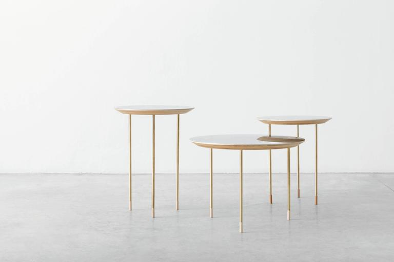Serie of 3 Side Tables Small Family Growing Numebered Edition by Veruska Gennari 2