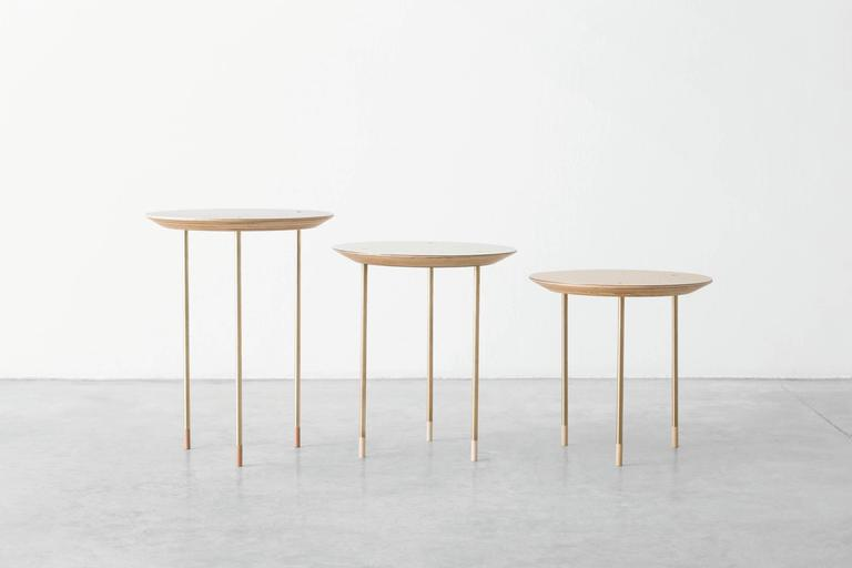 Serie of 3 Side Tables Small Family Growing Numebered Edition by Veruska Gennari 3
