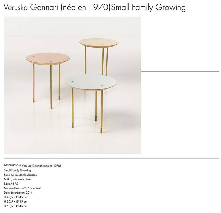 Serie of 3 Side Tables Small Family Growing Numebered Edition by Veruska Gennari 7