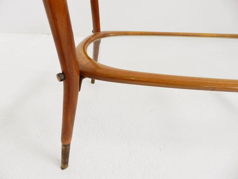 Mid-20th Century Elegant Side Table Carlo de Carli Style For Sale