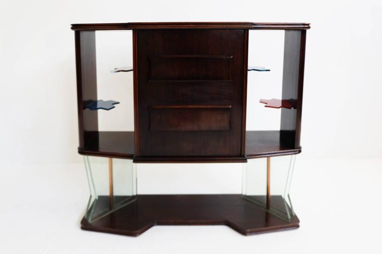 Mid-Century Modern 1950, Iconic Italian Design Dry Bar For Sale