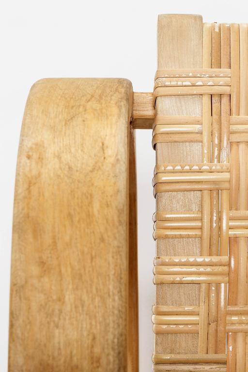 Alvar Aalto Cantilever Chair 406 by Artek in Birch and Cane Webbing For Sale 3