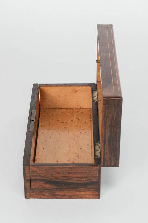 Birdseye Maple French Glove Box Rosewood Bird's-Eye Maple Inlays Gants Napoleon III For Sale