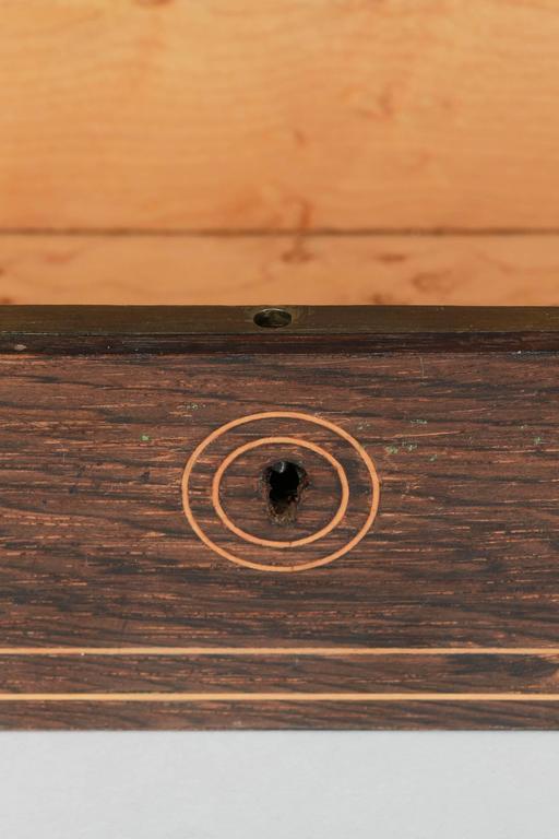 French Glove Box Rosewood Bird's-Eye Maple Inlays Gants Napoleon III For Sale 2