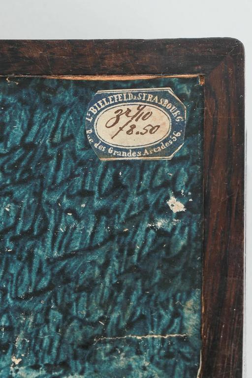 French Glove Box Rosewood Bird's-Eye Maple Inlays Gants Napoleon III For Sale 3