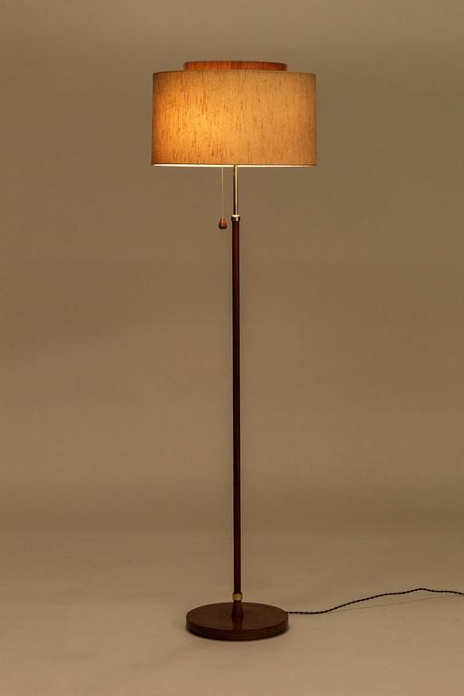 Teak Floor Lamp Temde Leuchten Stdibs