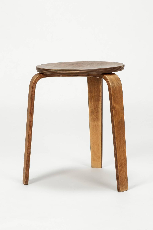 Hans Bellmann Stool Horgen Glarus Birch Plywood Late