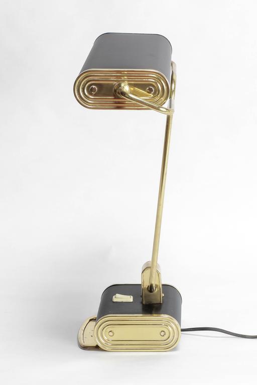 Eileen Gray Desk Lamp For Jumo France Brass 1940s At 1stdibs