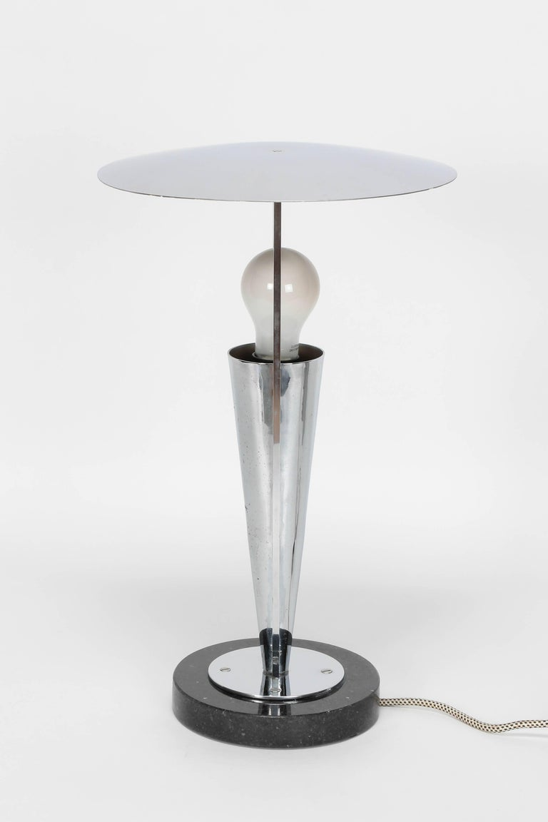 Art Deco Table Lamp Chrome 1930s For Sale At 1stdibs