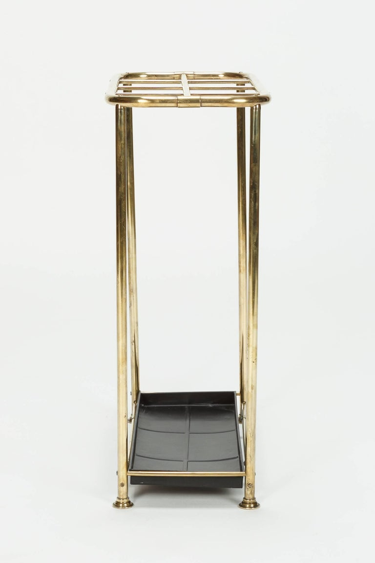 Very Elegant Hotel Lobby Brass Umbrella Stand 1930s At 1stdibs