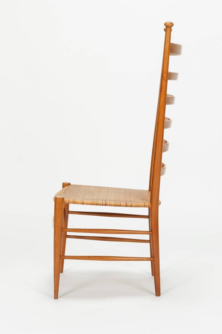 Mid-Century Modern Sanguineti Chair Chiavari, 1950s For Sale