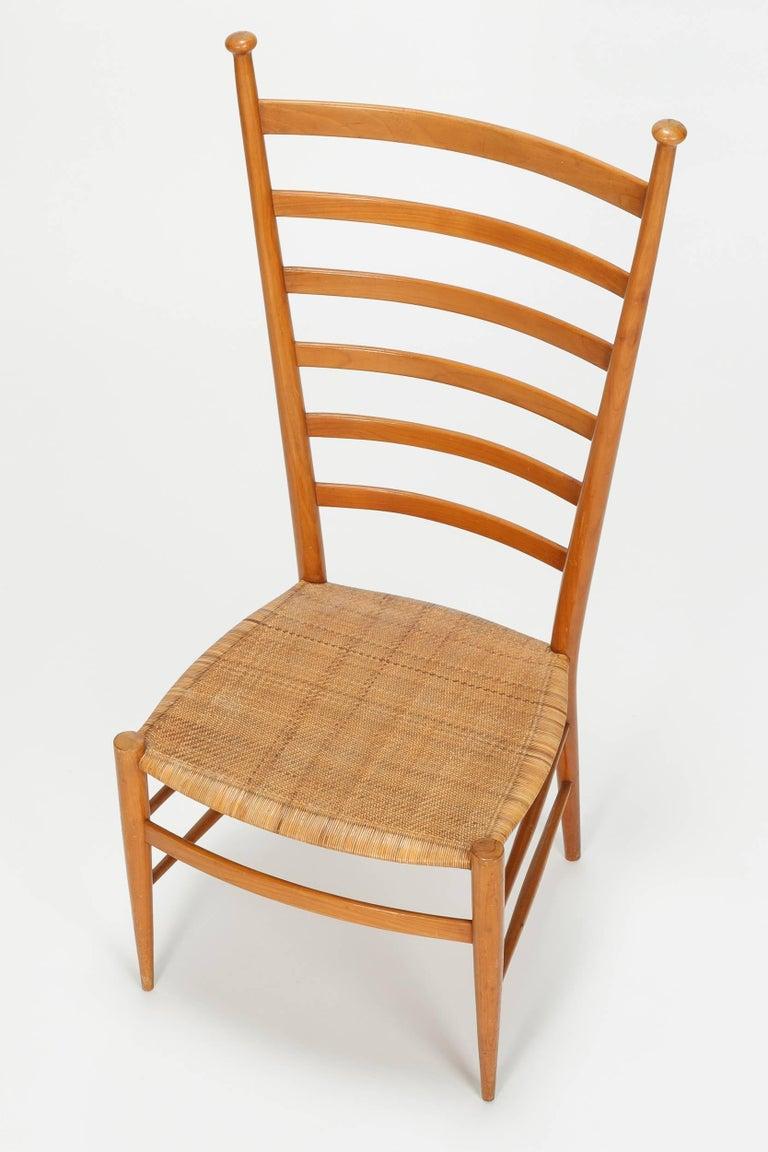 Pearwood Sanguineti Chair Chiavari, 1950s For Sale