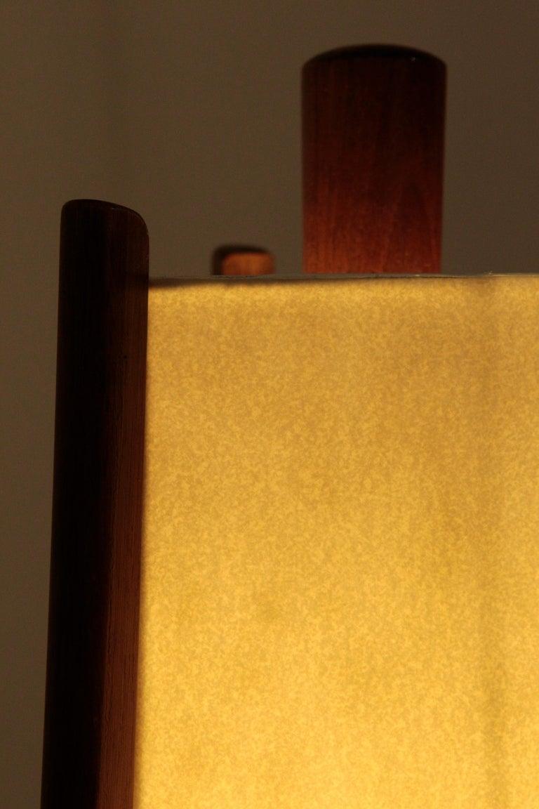 Swiss Floor Lamp Walnut, 1950s For Sale 5