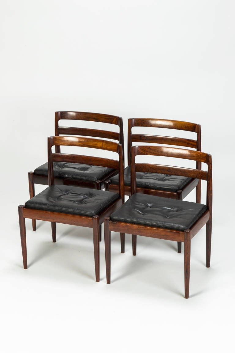 Set of four rosewood dining chairs model