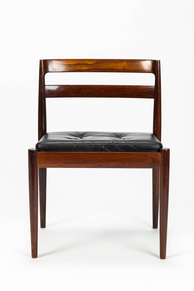 Danish Set of Four Rosewood Chairs