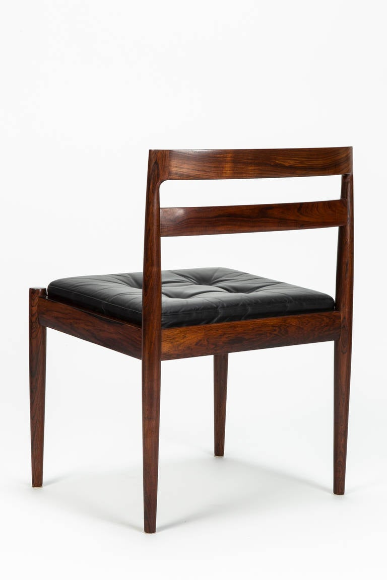 Mid-20th Century Set of Four Rosewood Chairs