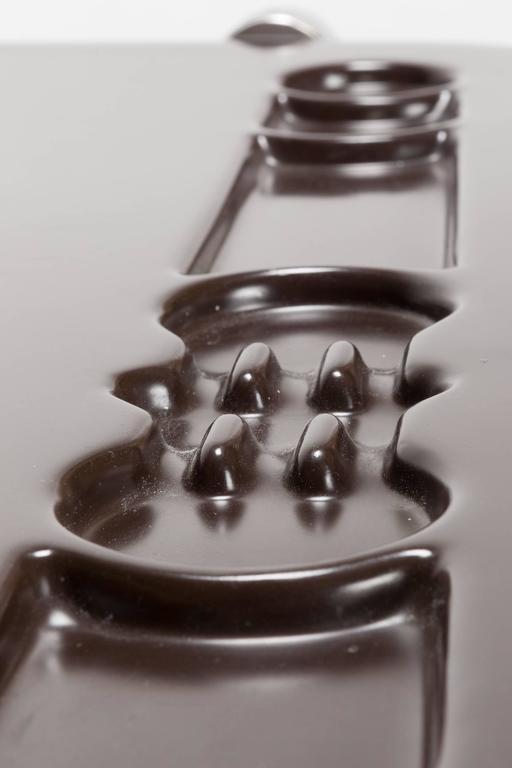 Stainless Steel Giancarlo Piretti Writing Desk Platone Castelli, 1970s For Sale