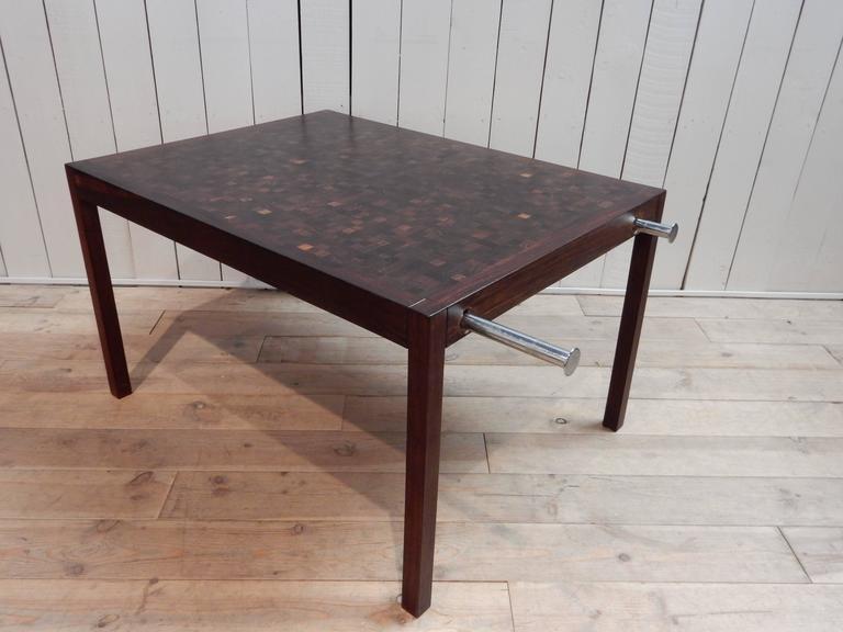 dieter waeckerlin extendable wenge table at 1stdibs. Black Bedroom Furniture Sets. Home Design Ideas