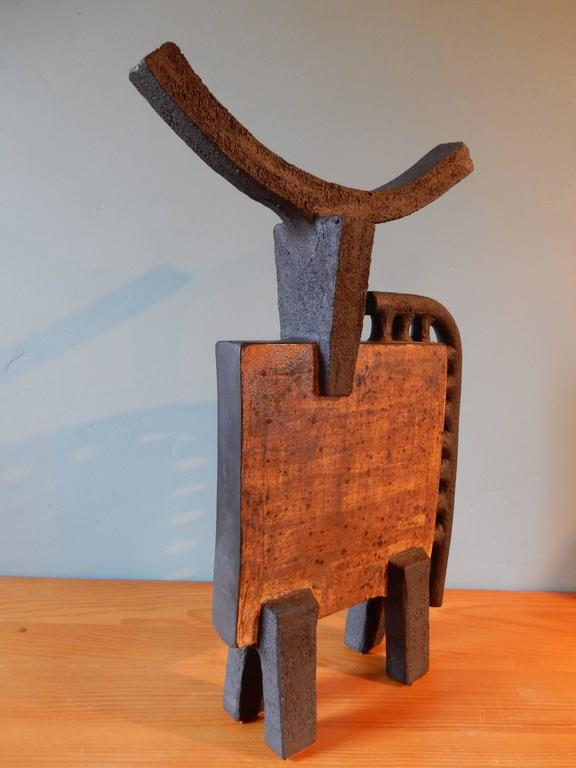 Dominique Pouchain Abstract Bull Ceramic 2