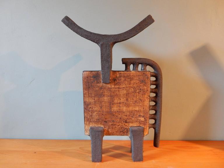 Dominique Pouchain Abstract Bull Ceramic 4