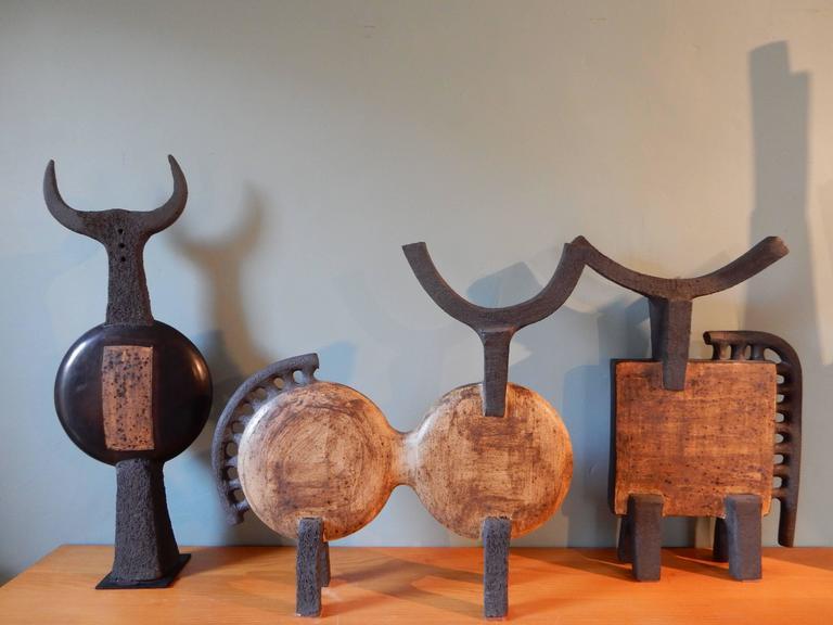 Dominique Pouchain Abstract Bull Ceramic 5