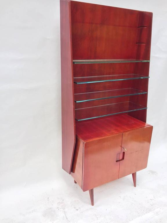 Bookcase Display Cabinet 1950s Italian by Vittorio Valabrega 2