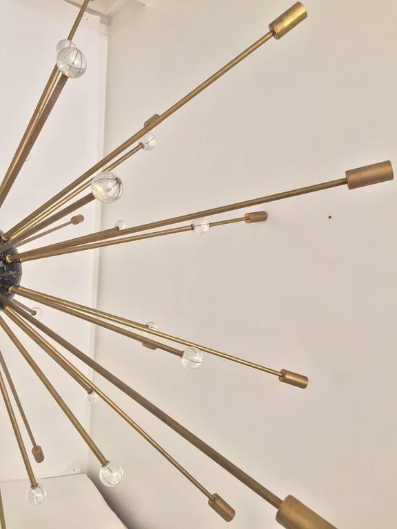 Important, Rare Oversized Sputnik Pendant Lights by Stilnovo, Italy, circa 1970s For Sale 2