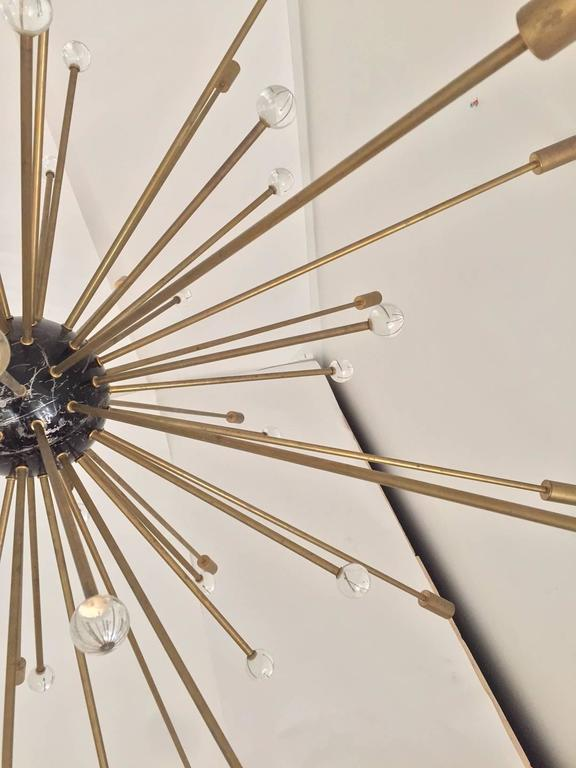 Important, Rare Oversized Sputnik Pendant Lights by Stilnovo, Italy, circa 1970s For Sale 1