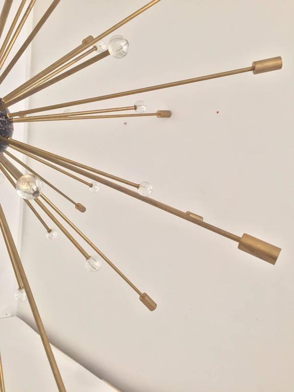 Important, Rare Oversized Sputnik Pendant Lights by Stilnovo, Italy, circa 1970s For Sale 3