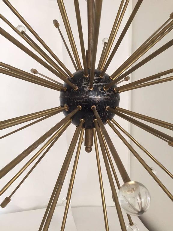 Italian Important, Rare Oversized Sputnik Pendant Lights by Stilnovo, Italy, circa 1970s For Sale