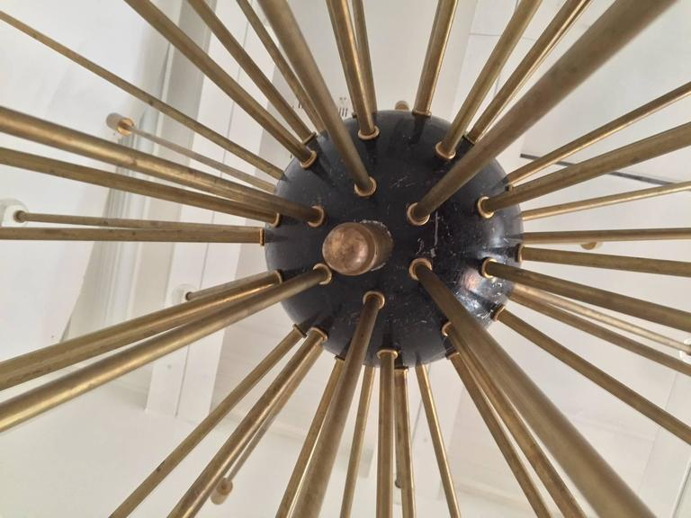 Important, Rare Oversized Sputnik Pendant Lights by Stilnovo, Italy, circa 1970s In Good Condition For Sale In London, GB