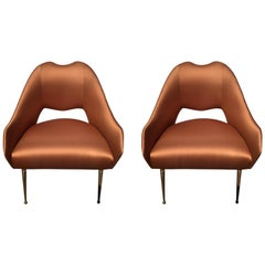 Vintage Italian 1950s Pair of Side Chairs