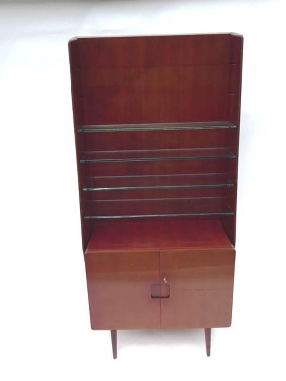Bookcase Display Cabinet 1950s Italian by Vittorio Valabrega 7