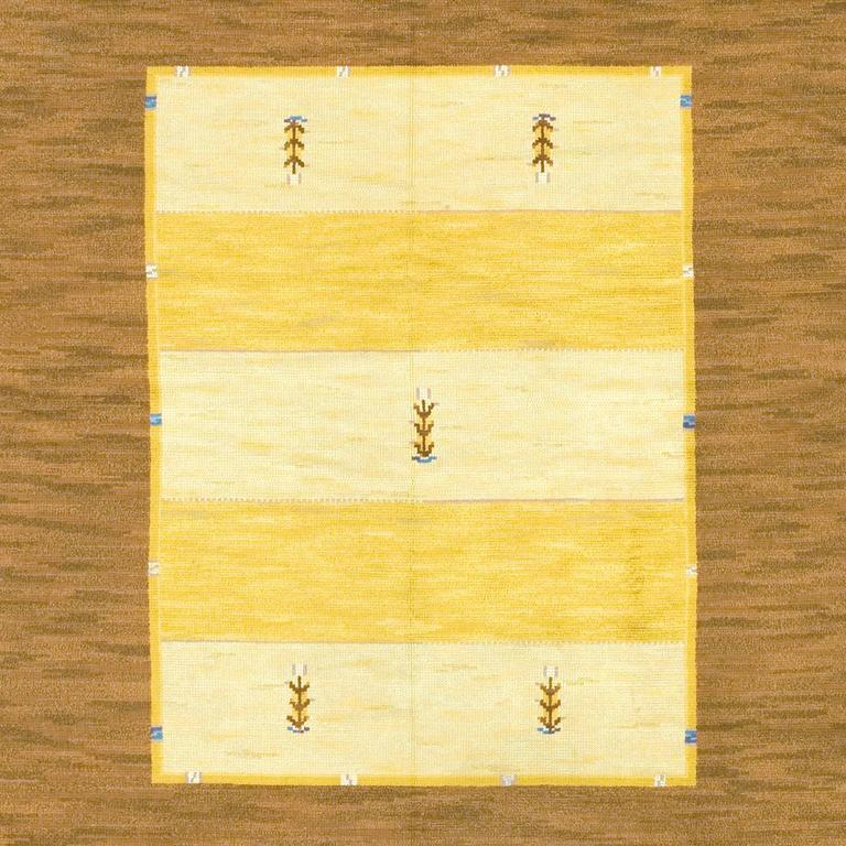 Scandinavian Modern Early 20th Century Swedish Pile-Weave Carpet by Martha Gahn For Sale