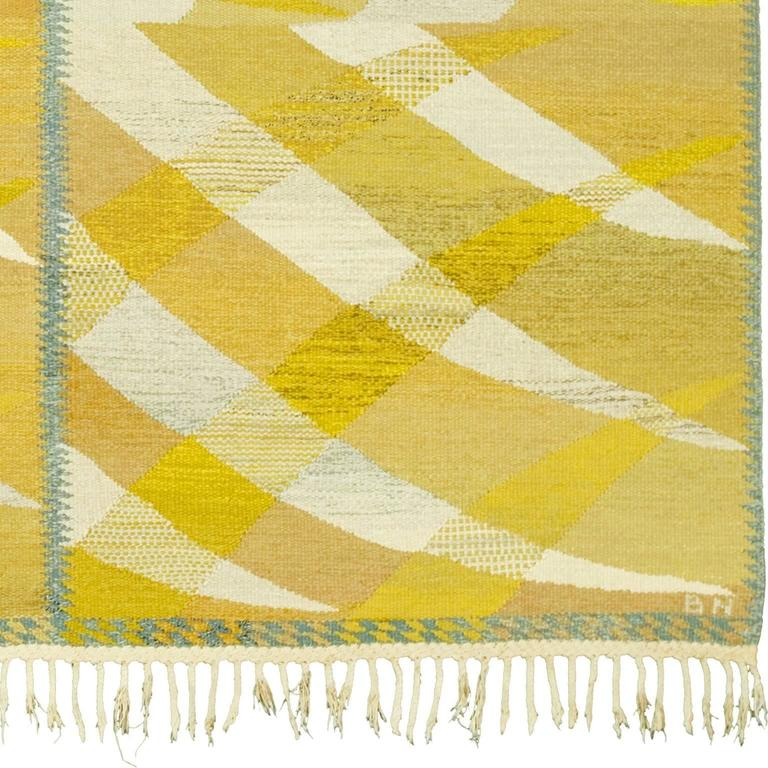 Swedish Flat-Weave Carpet by Barbro Nilsson, 1964 In Good Condition For Sale In New York, NY