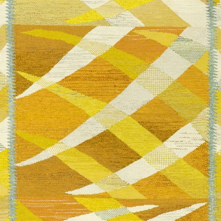 20th Century Swedish Flat-Weave Carpet by Barbro Nilsson, 1964 For Sale