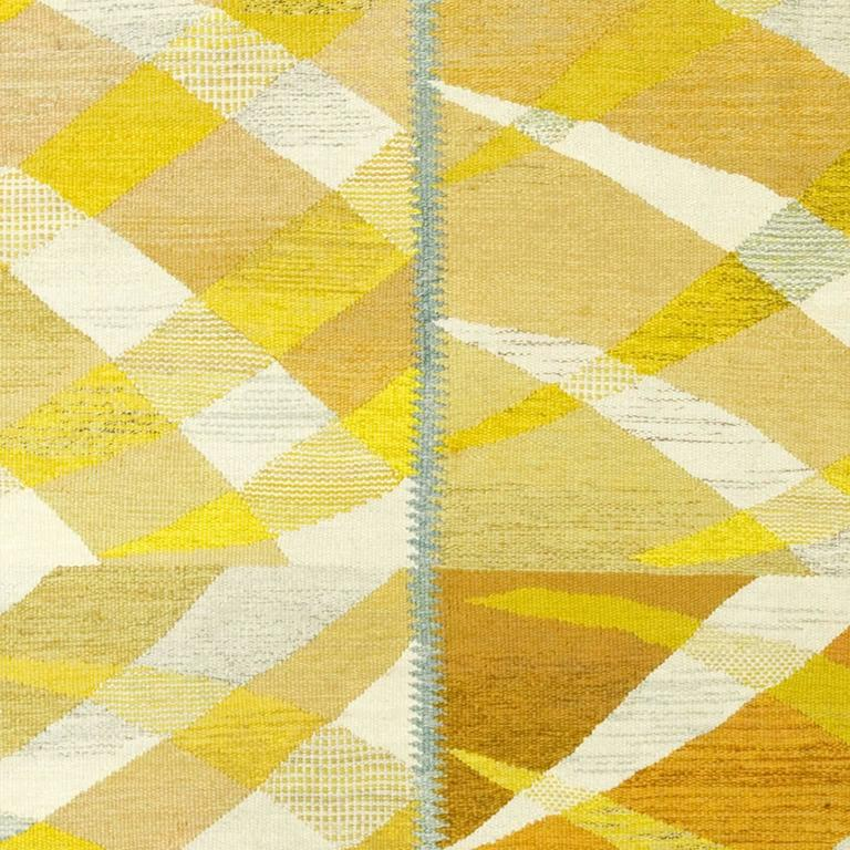 Swedish Flat-Weave Carpet by Barbro Nilsson, 1964 For Sale 1