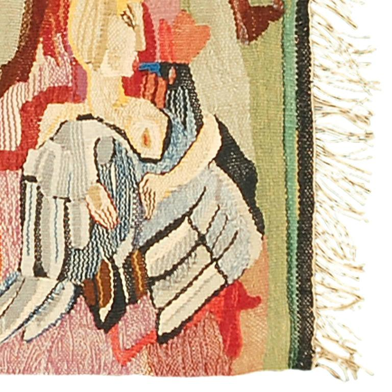 Hand-Woven Swedish Wall Hanging by Ingrid Segerlind-Lindblad For Sale