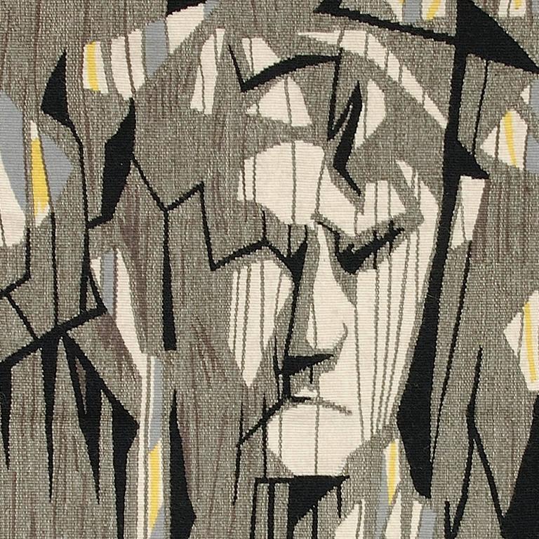 Hand-Woven Lars-Olof Gynning, Swedish Wall Hanging, 1957 For Sale