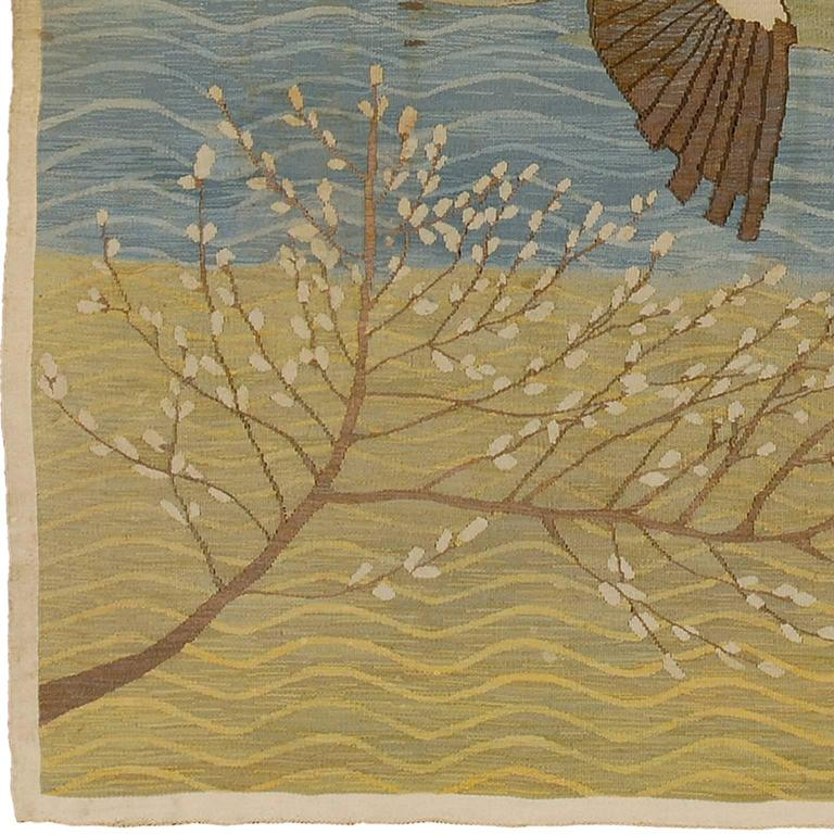 Early 20th Century Ernst Norlind, Swedish Wall Hanging, 1914 For Sale
