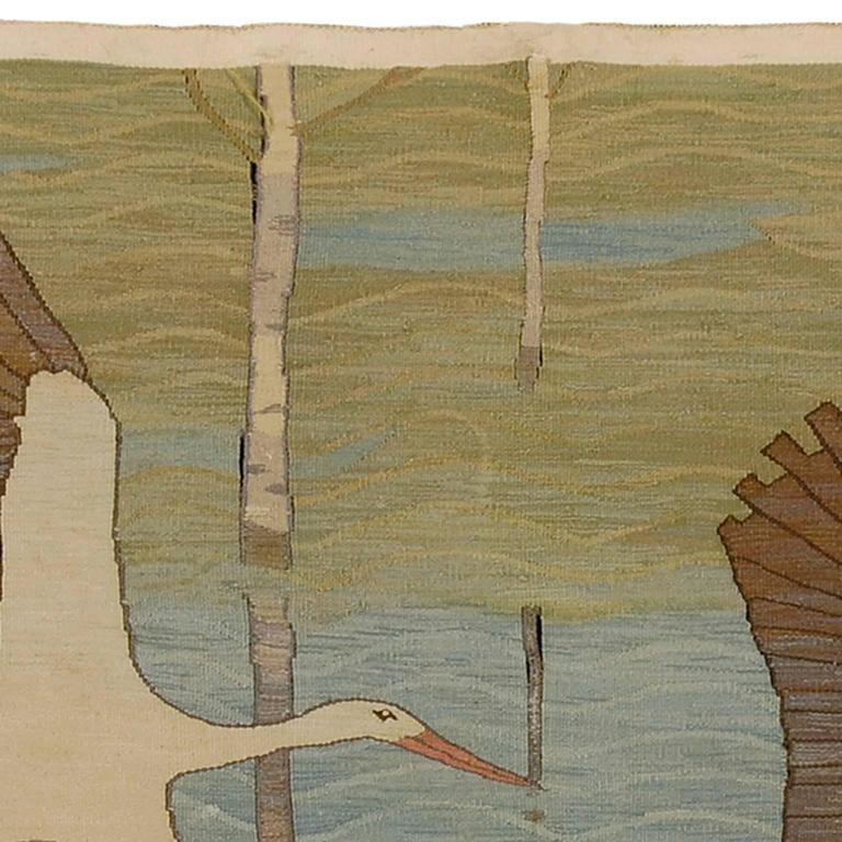 Hand-Woven Ernst Norlind, Swedish Wall Hanging, 1914 For Sale